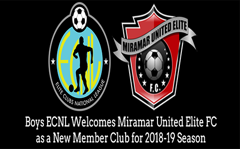 The Boys ECNL Welcomes Miramar United Elite FC as a New Member